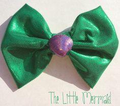 The Little Mermaid inspired hair bow