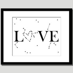 """romantic gift constellation love quote - this would make great anniversary card since our beginning as a couple was looking up at the night sky, finding the constellations . . . all the while our hearts were whispering -  """"this is the one""""  ; )"""