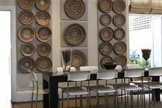 Using baskets as wall decor