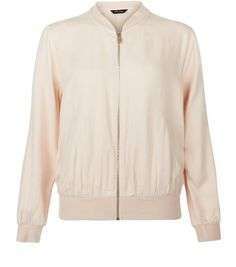 Shell Pink Bomber Jacket  | New Look