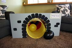 Spaghetti Westerner: Make your own train tunnel; great for a modern or vintage train birthday party