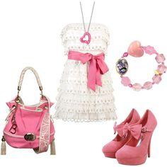 Cute Pink & White Dress