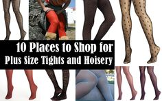 10 Places to Get Plus Size Tights and Thigh Highs (Extended Sizes Too!)