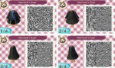 This is my favorite version of Sherlock's coat! Animal Crossing New Leaf qr code