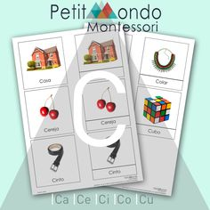 PRINTABLE MONTESSORI LANGUAGE - LETTER C DOWNLOAD MATERIAL DE LINGUAGEM LETRA C