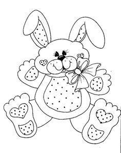 548 Best Easter bunnies images in 2019 | Coloring books, Coloring ...