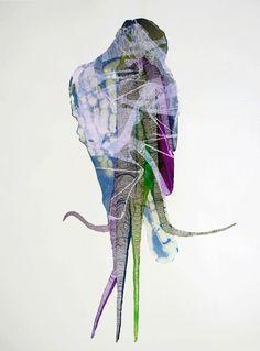 Prints and Textiles by Ingrid van der Zalm Tachisme, Love Collage, Fashion Collage, Art Plastique, Mixed Media, Van, Textiles, Embroidery, Quilts