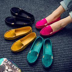 Womens Moccasin Suede Slip On Flat Loafers Ladies Casual Ballerina Ballet Shoes #UnbrandedGeneric #LoafersMoccasins #Casual