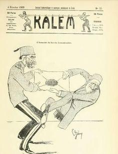 """""""Komiserin demirden arması"""" (Kalem Dergisi, 1909) #mizahabakış (#karikatürist Cemil Cem'in çalıştığı dergi) #istanlook"""