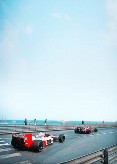 1988 Monaco F1 GP. McLaren MP4/4. Alain Prost.