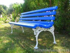 Plave klupe za JP Vodokanal Bečej  Blue park benches