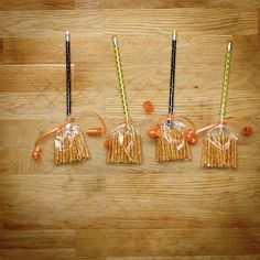 Snack #3: Pencil and Pretzel Witches Brooms