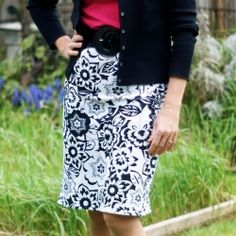 Tutorial shows you how to make this cute skirt from an upcycled t-shirt.  Check out the back view to see the cute slit detail.