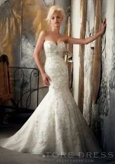 Top fashion Trumpet / Mermaid Chapel Beading Wedding Dress 2014 Style