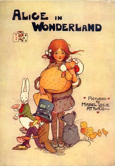 Mabel Lucie Attwell - cover of Alice In Wonderland