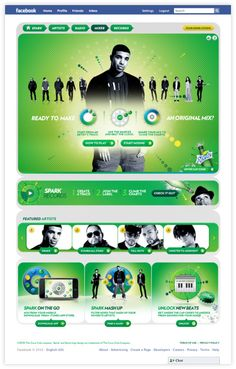 Sprite Spark Music Facebook app by Yi Liu, via Behance