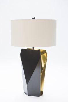 Origami Temko Lamp shown in Brass