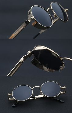 Steampunk Sunglasses Steampunk Sunglasses in 2019 Men Sunglasses Fashion, Fashion Eye Glasses, Cat Eye Sunglasses, Round Sunglasses, Sunglasses Women, Luxury Sunglasses, Vintage Sunglasses, Cool Sunglasses, Oversized Sunglasses
