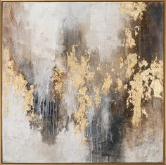 Oil Painting Abstract, Painting Frames, Painting Prints, Canvas Paintings, Grey And Gold, Oil On Canvas, Original Artwork, Wall Art, Decoration