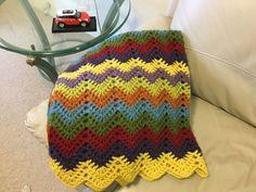 Crochet baby blanket chevron lap afghan crochet by JilaCrochet