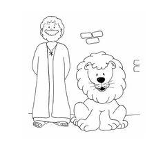 Daniel en el foso de los leones.