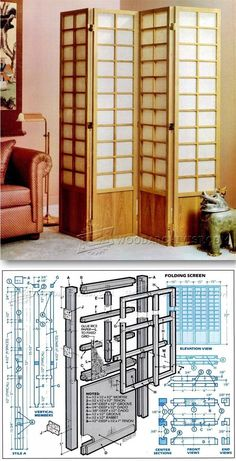 Room Divider Plans - Woodworking Plans and Projects | WoodArchivist.com