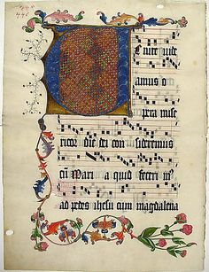 Leaf from an Antiphonary with the Initial V