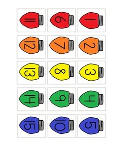 Christmas Lights NUMBER order 1-30 - Melanie Bowers - TeachersPayTeachers.com