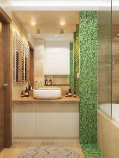 интерьер ванной в коричнево-зеленом цвете Palace, Green Interior Design, Dubai, Villa, Brown Bathroom, Construction Materials, Contemporary Bathrooms, Decoration, The Help