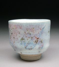 Handmade Yunomi Tea Cup glazed with Nuka and Wood Ash with Copper. via Etsy.