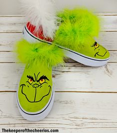 Grinch DIY Shoes – The Guardian of Cheerios The Effective Pictures We Offer You About christmas party A quality picture can tell you many things. You can find the most beautiful pictures that can be presented to you about christmas… Continue Reading → Merry Christmas Baby, Christmas Shoes, Christmas Time, Christmas Sweaters, Christmas Clothes, Christmas Ideas, Xmas, Diy Grinch Shirt, Grinch Shoes