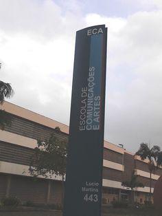USP - De: ECA. Para: estudantes e visitantes em geral. Quando: ano da inauguração (1966).