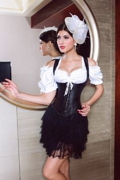 Amazon.com: Beautifully Faux Leather Black Underbust Corset With Shoulder straps: Clothing