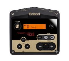 Roland TM-2 Trigger Module - the smart way to supercharge acoustic drums with electronic sounds. http://www.roland.co.uk/products/productdetails.aspx?p=1308