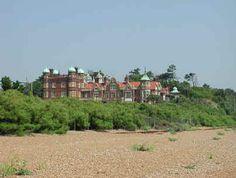 Bawdsey Manor, as seen from Felixstowe Ferry in Suffolk, UK