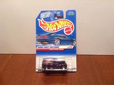 Hot Wheels Anglia Panel Truck #77 2000 First Editions Purple Ford Hood Opens…