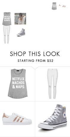 """""""hang out outfit"""" by millinder on Polyvore featuring River Island, adidas Originals and Converse"""