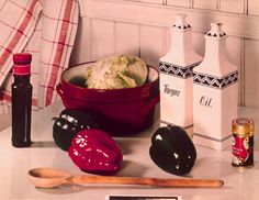 The Kitchen Table by Paul Outerbridge 1935 - I love the simple ceramics, the kitchen towel and the white beadboard in the background. Definitely inspiration for our kitchen! History Of Photography, Still Life Photography, Color Photography, Vintage Photography, Paul Outerbridge, Scenic Design, Love Photos, Vintage Recipes, Pop Art