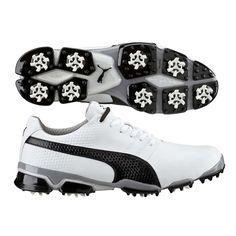 Puma TitanTour Ignite Golf Shoes White-Black SS16
