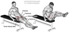 Seated knee raise exercise