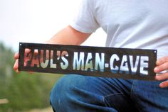 The Man Cave, Metal Sign, Gift for Men, Gift for Dad, Plasma Cut Metal Art, Handmade Sign, Metal Sign on Etsy, $55.00