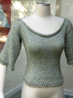 Green T Pattern - via Craftsy, love the drape of the neckline