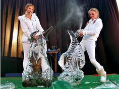 Chainsaw Chicks - Female Ice Sculpting Performance