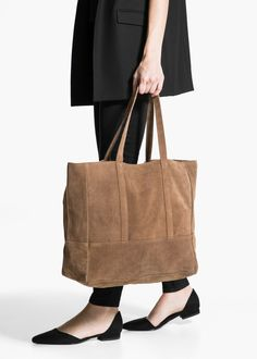 Süet shopper çanta