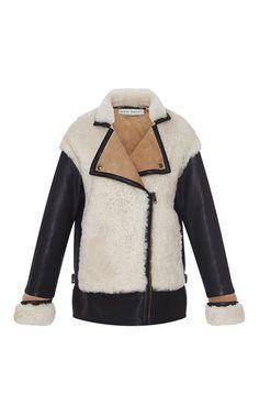 Lamb Shearling Biker Jacket by VERONIQUE BRANQUINHO for Preorder on Moda Operandi