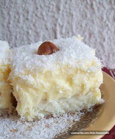 Raffaello cake, creamy and appetizing, urge you to try it Bosnian Recipes, Croatian Recipes, Baking Recipes, Cookie Recipes, Dessert Recipes, Kolaci I Torte, Healthy Cake, Sweet Tarts, Dessert Drinks