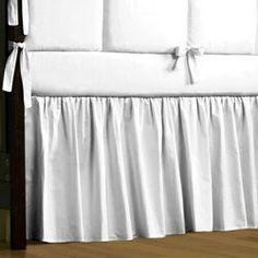 Google Image Result for http://1.bp.blogspot.com/_rtiKszDivO0/TD5K9yO1PYI/AAAAAAAAAhM/5dVqAiFRIUA/s400/solid-white-crib-bedding-skirt-20-inch-gathered_small.jpg