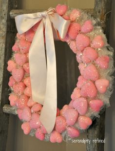 Valentines Day Dollar Tree Heart Wreath