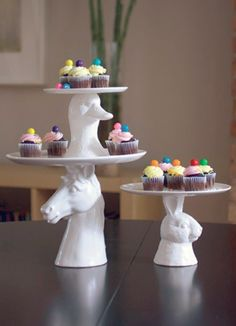 Whimsical cake stands
