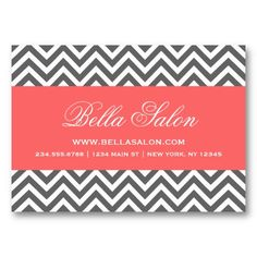 25 best girly fashion business cards images on pinterest fashion charcoal gray and coral modern chevron stripes business card colourmoves